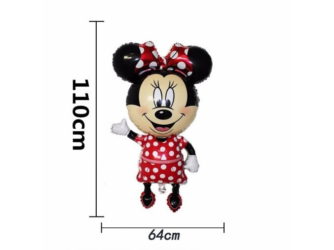 0 1pc 110cm Giant Mickey Minnie Mouse Foil Balloon Cartoon Happy Birthday Party Decorations Kids Baby Shower