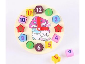 3 Baby 12 Number Wooden Toys Puzzle Colorful Digital Geometry Clock Educational Toys For Children Kids Wood