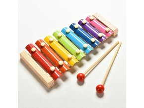 4 8 Note Baby Kid Wooden Xylophone Piano Musical Music Instrument Toy Xmas Gift