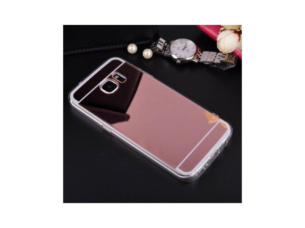 763 luxusni kryt mirror samsung galaxy s6 edge rose