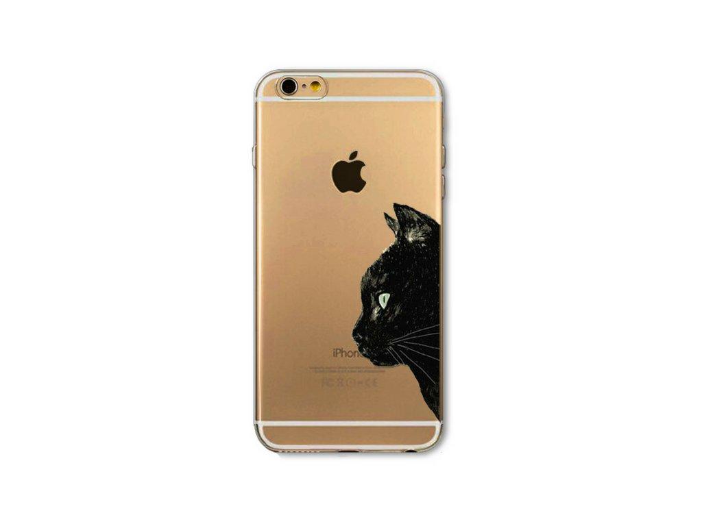 1084 tenky silikonovy kryt cute cat iphone 4 4s cat profile