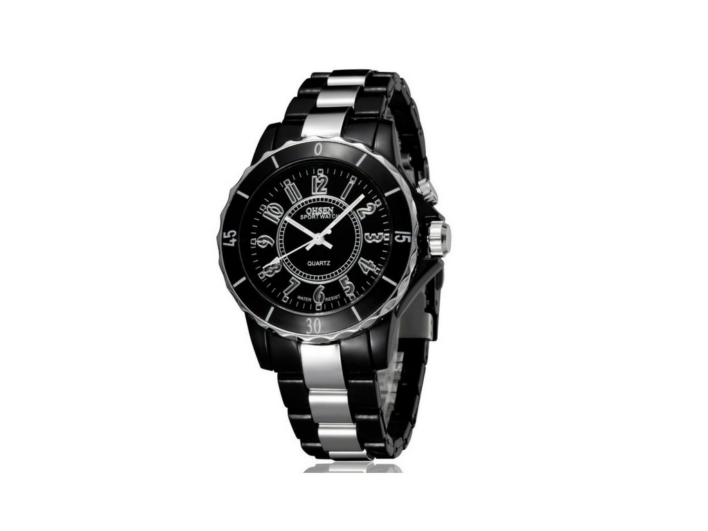 1283 panske hodinky ohsen led light black