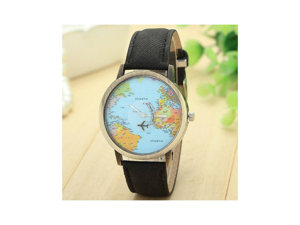 1748 damske hodinky travel black