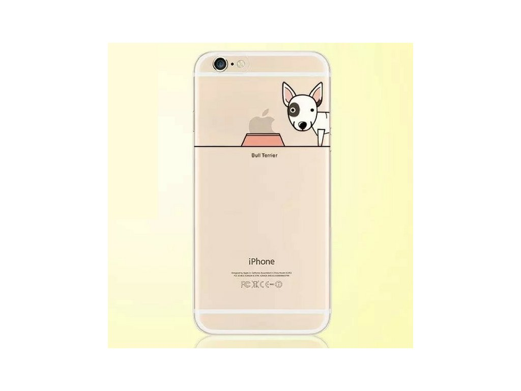 2963 pruhledny kryt hungry dog iphone 6plus 6s plus bull terrier