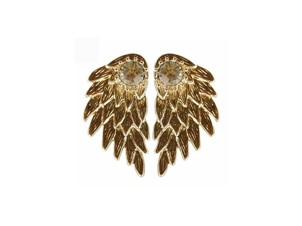 3284 nausnice angel wings gold