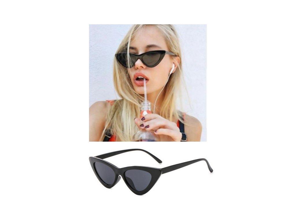 Sluneční brýle Cat look (Typ Black - grey)