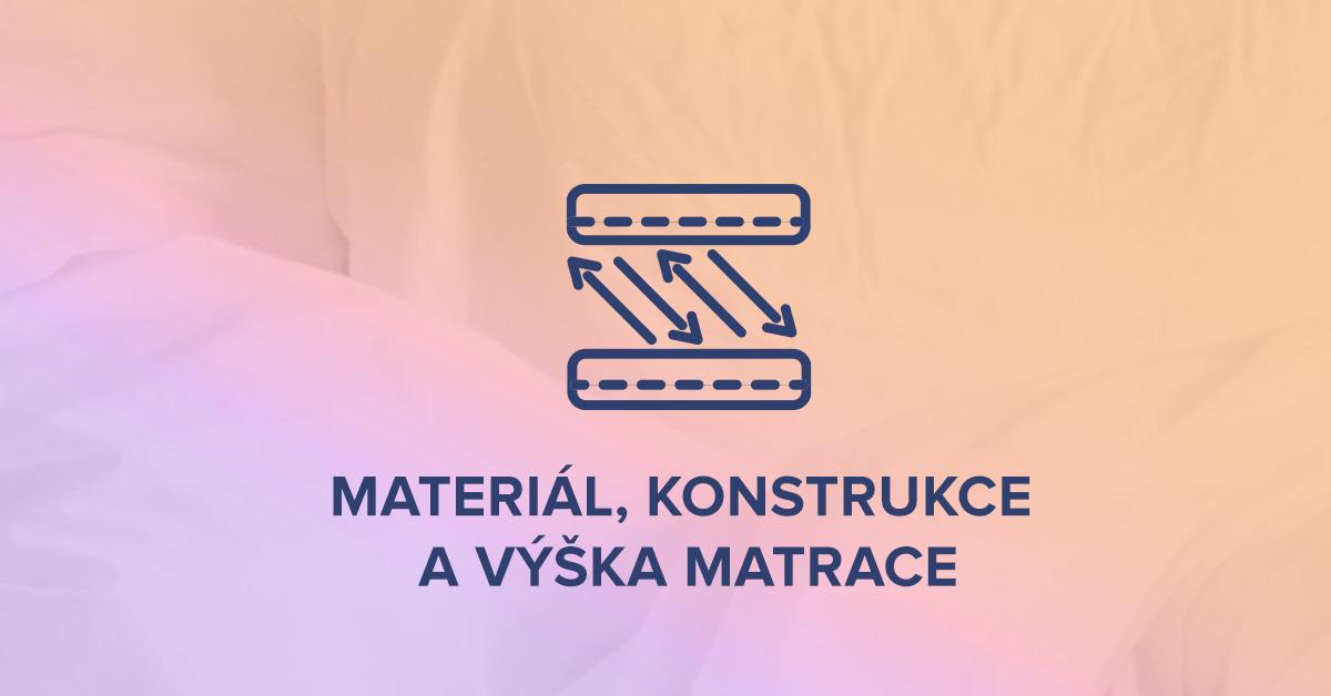 Materiál, konstrukce a výška matrace
