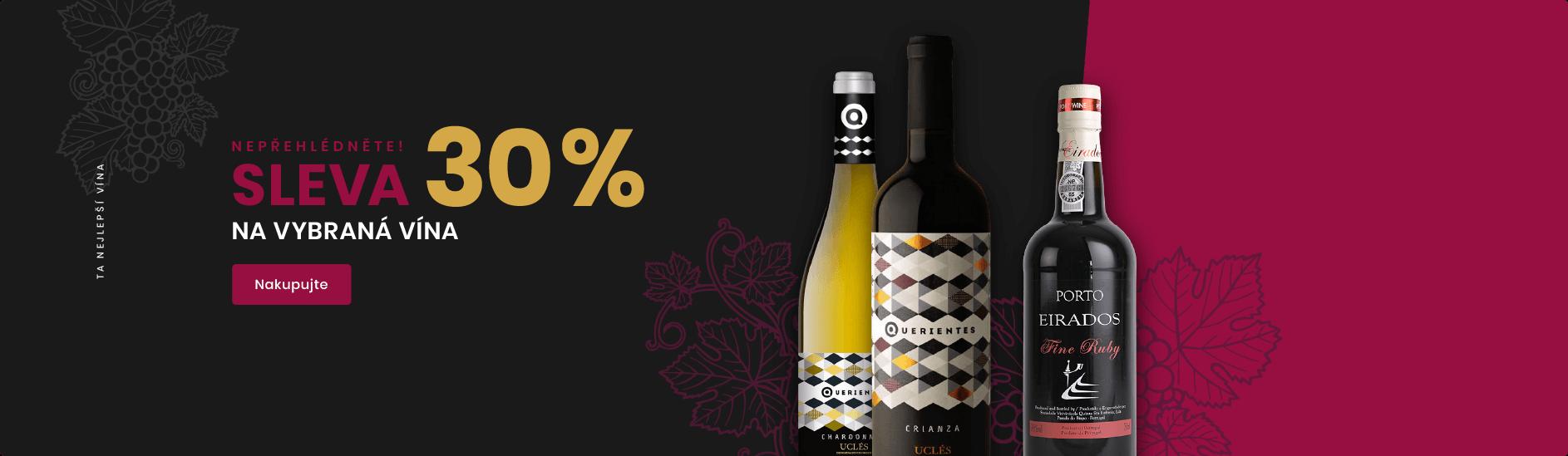 30% sleva na vybraná vína