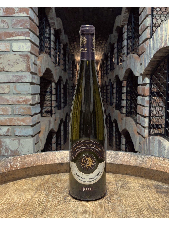 Chardonnay, pozdní sběr, 2008, polosladké, vinařství Popela