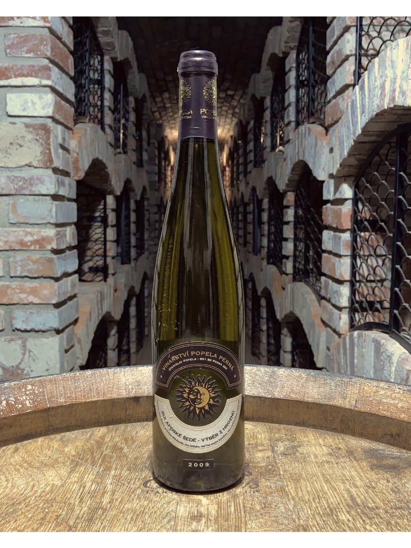 Rulandské šedé, výběr z hroznů, 2009, polosladké, vinařství Popela