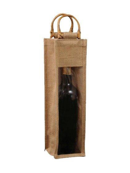 Jutová taška na1 láhev