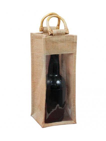 Jutová taška na portské víno