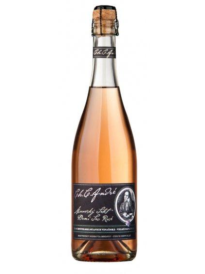 Sekt André rosé,demi sec,šlech,0.75l 2