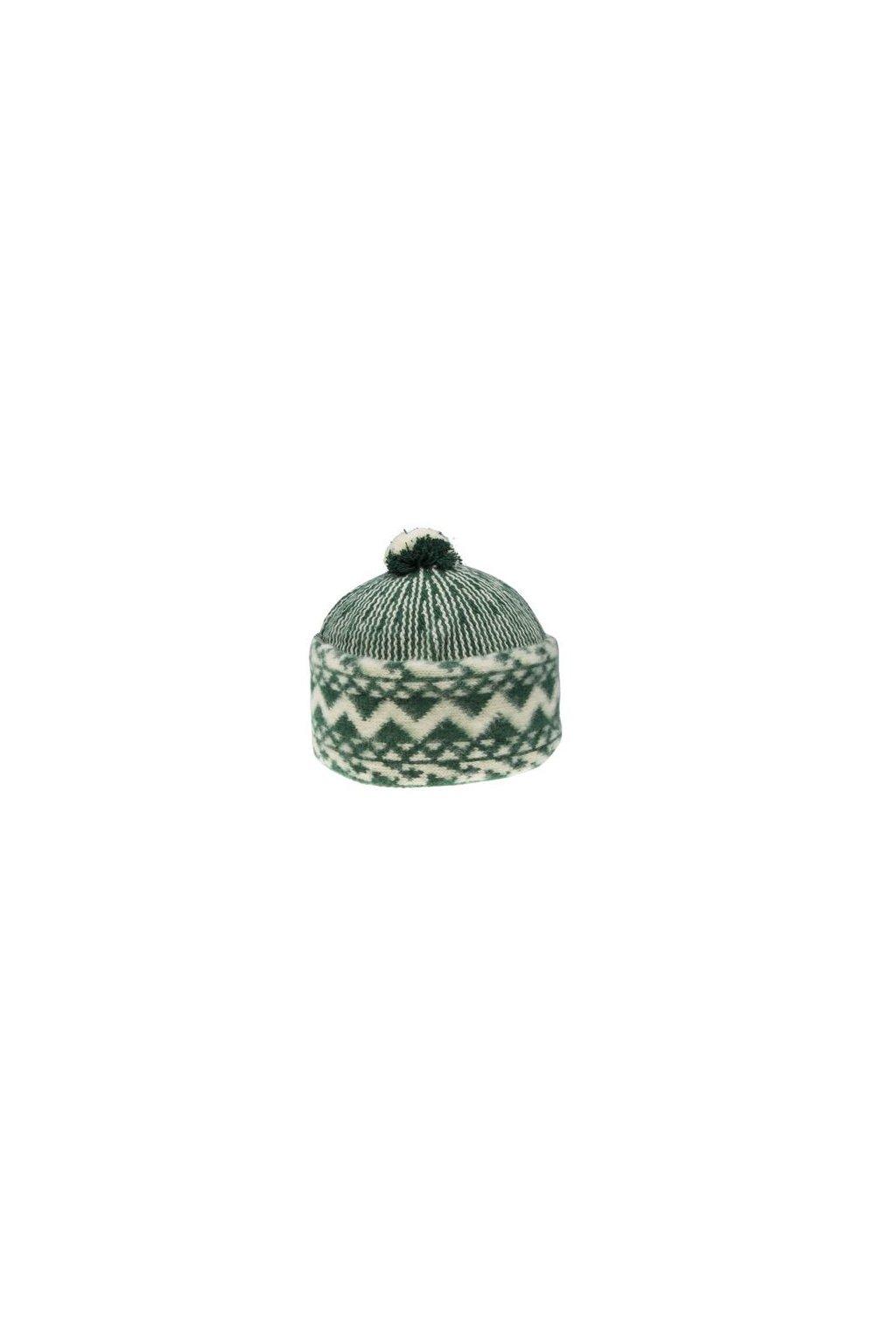 Triton 011 000001 cepice pletena vlnena zmijovka zelena