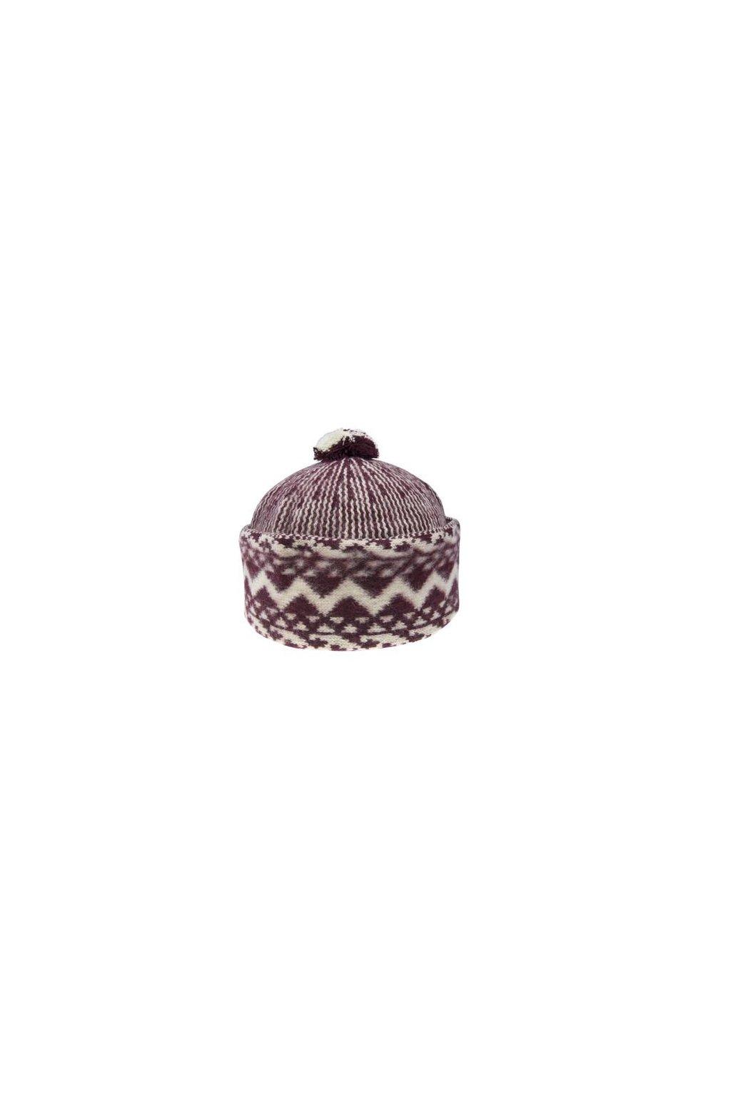 Triton 011 000002 cepice pletena vlnena zmijovka bordo