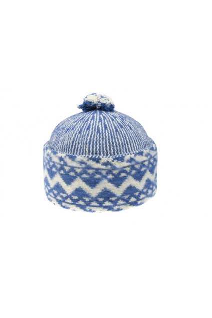 Triton 011 000013 cepice pletena vlnena zmijovka modra