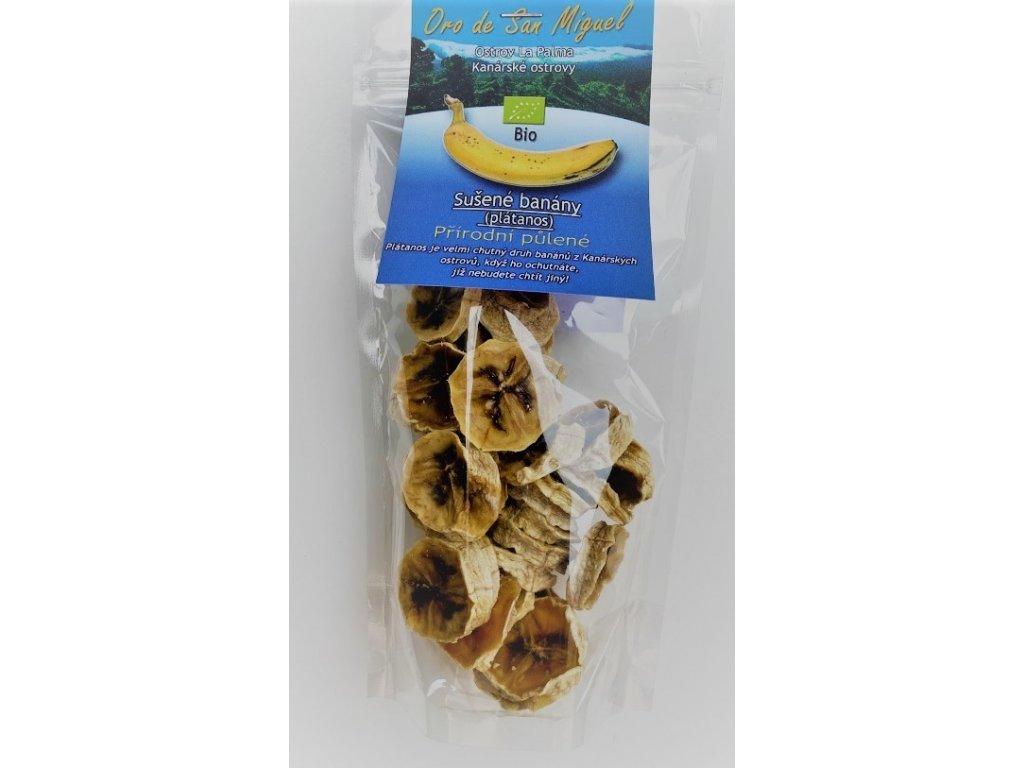 Sušené banány z La Palmy, BIO