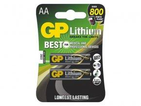 Baterie lithiová AA R6 1,5V GP 2ks