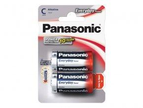 66273 baterie c r14 alkalicka panasonic everyday power 2bp