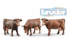 110022 bruder 02308 2308 figurka krava hneda