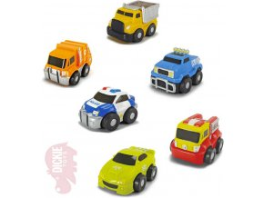 DICKIE Baby autíčko Happy Mini Squeezy měkký plast 6 druhů pro miminko
