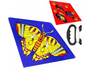 Drak létající potisk Motýl / Formule 110x71cm 2 druhy plast