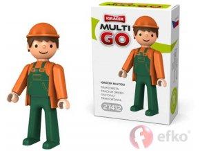 360235 efko igracek multigo traktorista figurka v krabicce
