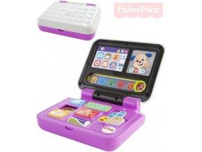 105309 fisher price baby laptop naucny notebook cz na baterie zvuk pro miminko
