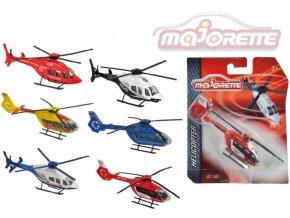 111618 majorette vrtulnik kovovy 13cm 2 druhy 6 barev na karte