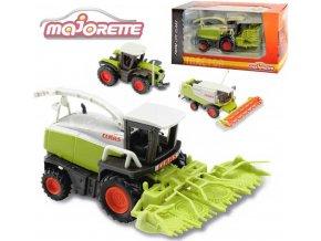 111435 majorette zemedelsky stroj claas kovovy 9 13cm 3 druhy