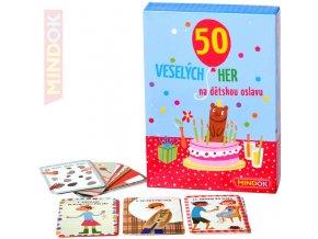 100884 mindok hra 50 veselych her na detskou oslavu spolecenske hry