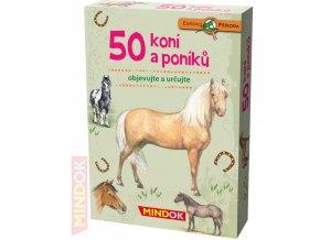 MINDOK HRA kvízová Expedice Příroda: 50 koní a poníků naučná
