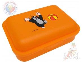 MORAVSKÁ ÚSTŘEDNA Krtek Box svačinový s míčem - oranžový