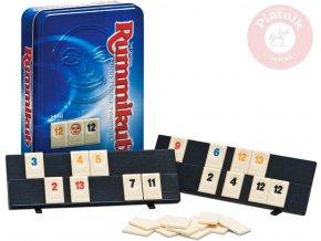 122502 piatnik hra rummikub mini plechova krabicka spolecenske hry