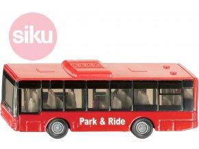 123261 siku autobus mestsky cerveny kovovy 1021