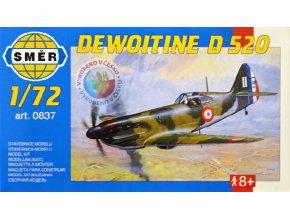 SMĚR Model letadlo Dewoitine D520 1:72 (stavebnice letadla)
