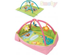 105156 smoby baby decka s hrazdou cotoons set s doplnky 2 barvy pro miminko
