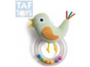 125901 taf toys baby chrastitko plysovy ptacek s kulickami pro miminko