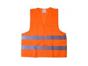 Reflexní výstražná vesta oranžová COMPASS 01511