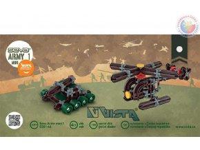 117807 vista seva army 1 mini tank vrtulnik polytechnicka stavebnice 158 dilku
