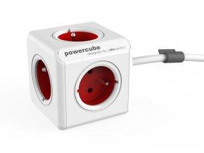 56034 zasuvka powercube extended s kabelem 1 5m red
