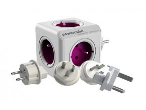 56055 zasuvka powercube rewirable usb purple travel plugs