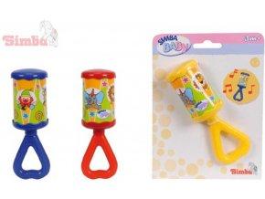 SIMBA Chrastítko dětské Kling - Klang 3 barvy na kartě baby