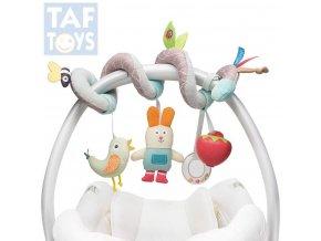 125964 taf toys baby spirala textilni na kocarek chrastitko kousatko pro miminko