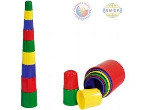 SMĚR Kubus (kostky) pyramida kulatá Plast BABY