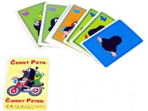DINO Hra Černý Petr KRTEK karty v papírové krabiččce *SPOLEČENSKÉ HRY*