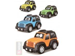 BBURAGO Baby autíčko Jeep plastové s očima 9cm různé druhy