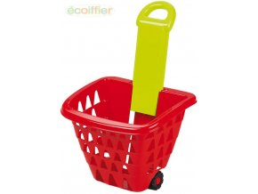 148397 ecoiffier baby kosik nakupni na koleckach vysunovaci rukojet plast