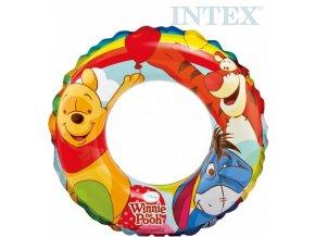 146384 intex kruh detsky nafukovaci 51cm medvidek pu plavaci kolo do vody 58228