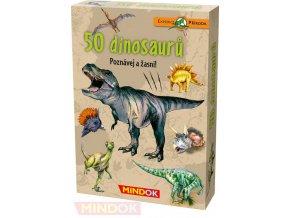 MINDOK HRA kvízová Expedice Příroda: 50 druhů dinosaurů naučná